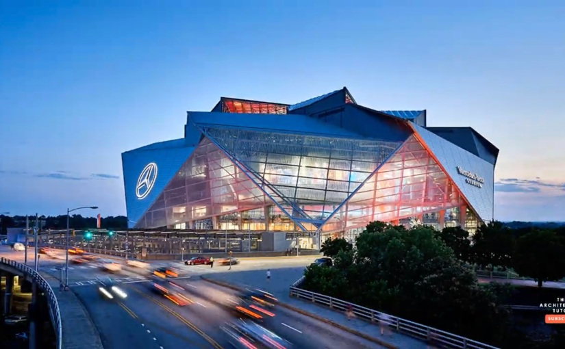 Mercedes-Benz Stadium ใน Atlanta แบบรวดเร็วในRevit