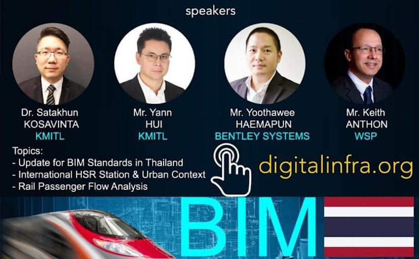 Webinar: BIM for Buildings and Rail in Thailand andASEAN