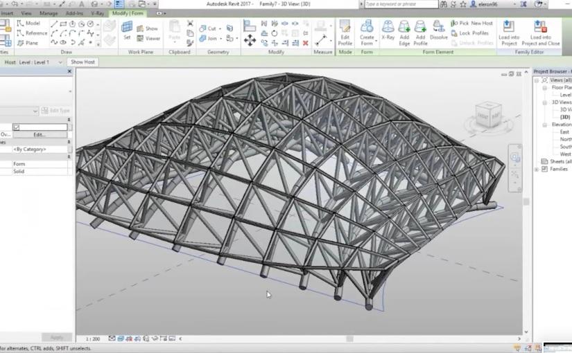 วิธีสร้าง Parametric Trusses System เพื่อใช้ในการทำโมเดลสำหรับถอดแบบก่อสร้าง