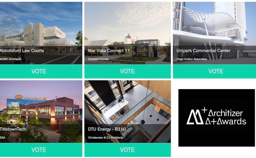 มาร่วมโหวตรางวัลงานที่ใช้ BIM ในการทำงานของ Architizer A+Awards ของเวปไซต์ Architizerกัน