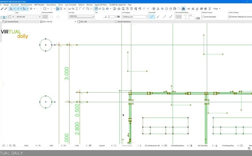 วิธี Import/Export ไฟล์ drawing ระหว่าง ArchiCAD กับAutoCAD