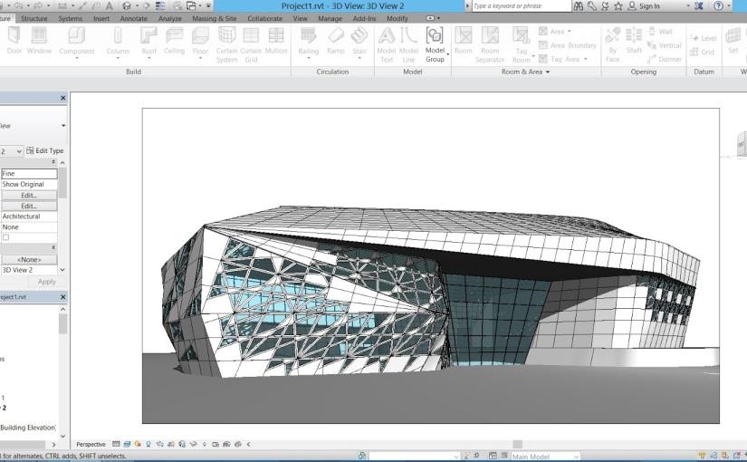 มาลองปั้น Beethoven Concert Hall  (Zaha Hadid) โดยใช้ Parametric ใน Revitกัน