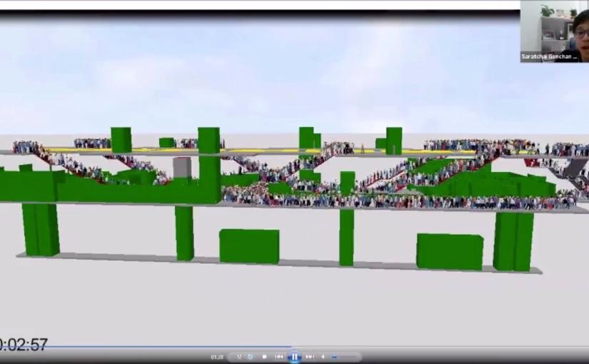 ซ้อมหนีไฟด้วย Viswalk, โปรแกรม Pedestrian Simulation ช่วยวิเคราะห์การเดินของคน